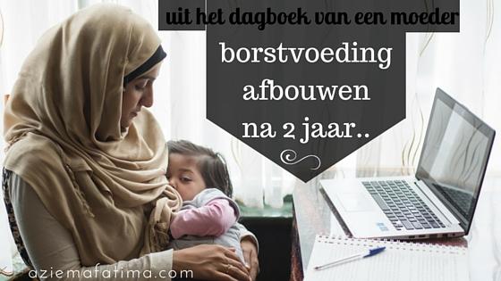 Mommy Diary: Borstvoeding afbouwen na 2 jaar..