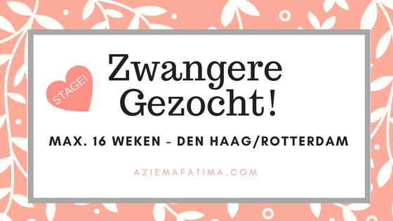 Stage-opdracht: Zwangere Gezocht! (max. 16 weken)
